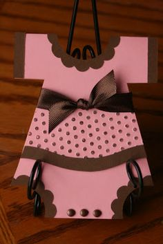 H.S. Homemade: Baby Girl Onesie Card