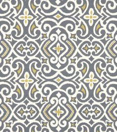 Upholstery Fabric-Robert Allen New Damask Greystone & Upholstery Fabric at Joann.com for chair to be recovered