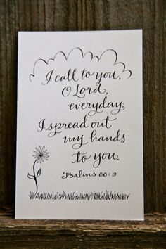 Hand-Lettered Scripture Print - Psalm 88:9 - Bella Scriptura Collection from Paperglaze Calligraphy