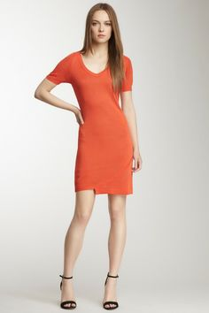 Zip Shoulder V-Neck Knit Dress by Yuka on @HauteLook