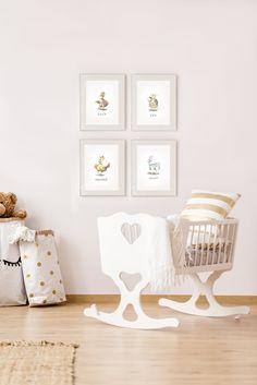Nursery decor.Babyroom design. Animal illustrations. Animal prints watercolor. Nursery Prints, Nursery Decor, Learning Techniques, Watercolor Animals, Baby Room, Toddler Bed, Beige, Interior Design, Handmade Gifts