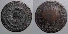 Moeda brasileira de cobre de 40 réis