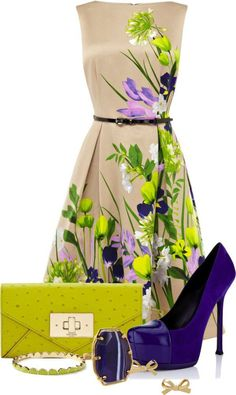 Belts can act as a way to accentuate the waist and add structure to a loose outfit bringing form and shape. A flower print dress can sometimes overpower a feminine frame. Be sure to belt your floral dress with a solid colored belt, this will help to keep it chic and flattering.