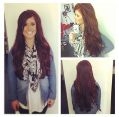 Chelsea Houska red hair. Absolutely love this color!