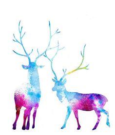 Image result for watercolour deer