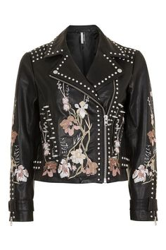 Embroidered Leather Jacket. Knock off of Alice & Olivia.