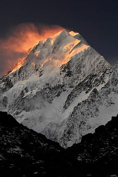 Mt Cook, Aoraki, South Island, New Zealand - the drive to Mt. Cook is one of the best across South Island.