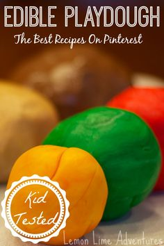 The Best Edible Playdough Recipes: Kid tested, analyzed and compared. Such a clever way to sneak in science and reasoning. To Make Slime In The Uk) Sensory Activities, Craft Activities For Kids, Infant Activities, Projects For Kids, Diy For Kids, Crafts For Kids, 3 Kids, Sensory Play, Preschool Ideas