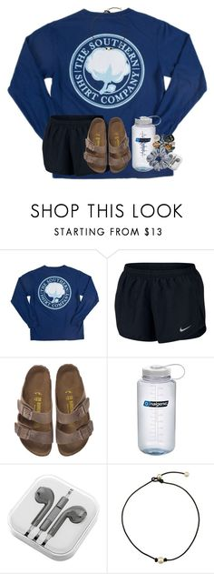 """!!!RTD!!!"" by preppy-lexi-1013 ❤ liked on Polyvore featuring NIKE, Birkenstock and Nalgene"