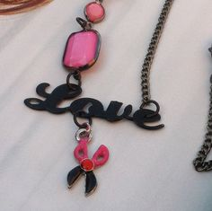 Love Hair /Love Pink HairStylist Necklace by TheBohemianGypsy, $15.00