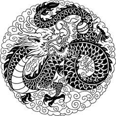 Chinese dragon illustration. More of chinese dragons at my portfolio.