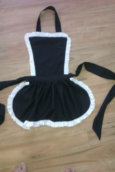 French Maid style Frilly Apron etsy