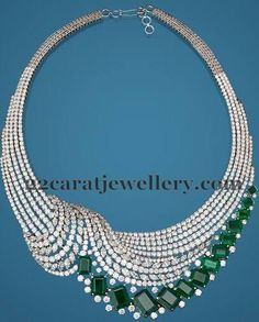 Jewellery Designs: Classic Diamond Sets by Hazoorilal