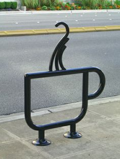 Creative and funny bicycle racks 07 - tazza caffé coffee cup