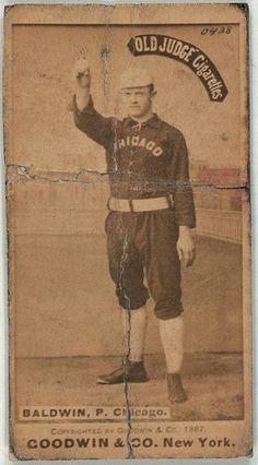 [Mark Baldwin, Chicago White Stockings, baseball card portrait]