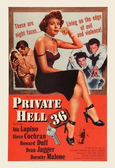 CLASSIC MOVIE POSTER Private Hell Movie by EncorePrintSociety