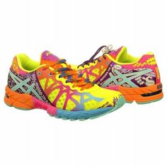 It's like a unicorn dipped them into a rainbow pond and Lisa Frank herself baptized them. I need these. Asics Women's Gel-Noosa Tri 9 Running Shoe Shoe