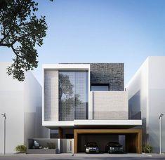 Modern house decoration style: best modern villa design ideas on pinter Design Villa Moderne, Modern Villa Design, Modern Exterior, Exterior Design, Exterior Colors, Contemporary Architecture, Interior Architecture, Cubist Architecture, Minimalist Architecture