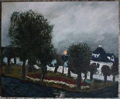 Amund Håland:   Fra norsk småby 12, 60x50 cm olje på lerret, 201...