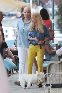 Crown Princess Mette-Marit of Norway and Franca Sozzani are spending their holidays in the beautiful Portofino