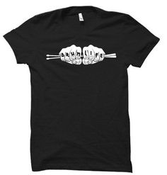 Drum Life Music T-Shirt DAP, This t-shirt is Made To Order, one by one printed so we can control the quality. Shirt Print Design, Shirt Designs, T Shirts, Printed Shirts, Drumline Shirts, Marching Band Shirts, Direct To Garment Printer, Drums, Shirt Style