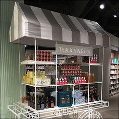 Tea and Sweets Cart at Indigo Bookstore – Fixtures Close Up