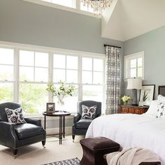 benjamin moore silver mist.  great for a bedroom, soothing and restful #BenjaminMoorePaint #SilverMist
