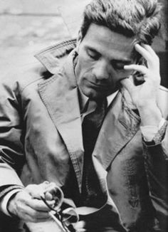 Pier Paolo Pasolini, an Italian film director, poet, writer and intellectual. (1922-1975)  Pasolini's murder is still unsolved.