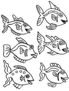 small fish interesting and funny animal coloring pagesfree