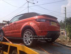 #RangeRover #EvoqueConvertible spied in #India for the first time