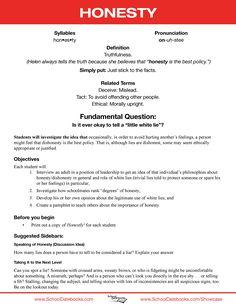 Essays On Honesty