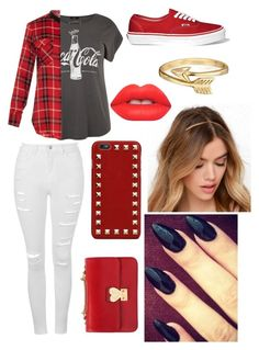 """""""Untitled #3"""" by mfgsoccer ❤ liked on Polyvore featuring Vince, Topshop, Bling Jewelry, Lime Crime, Valentino, Vans, women's clothing, women's fashion, women and female"""