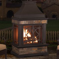 Found it at Wayfair - Heirloom Steel Wood Burning Outdoor Fireplace