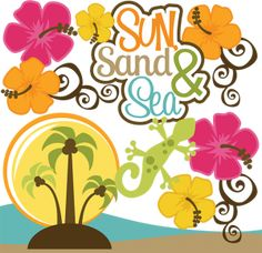 Sun Sand & Sea SVG Scrapbook Collection beach svg file tropical vacation svg files for scrapbooking