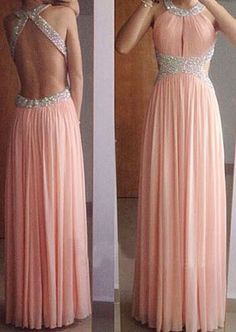 Pink Prom Dresses,Formal Evening Dresses,Simple Prom Dresses