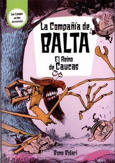 """Portada de la primera entrega de la Colección literaria """"La Compañía de Balta"""". Daniel Cerdà, Jaume Copons, Ramón Cabrera y Oscar Julve"""