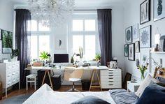 70 + Trending Modern Home Office Design Ideas For Inspiration Home Office Bedroom, Home Office Design, Home Office Decor, Bedroom Decor, House Design, Home Decor, Bedroom Ideas, Desk In Bedroom, Bedroom Workspace