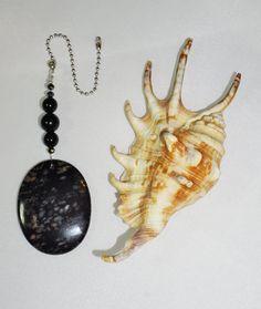 Black Gemstone  Ceiling Fan Pull  Crystal by EarthDreamsbySunLi