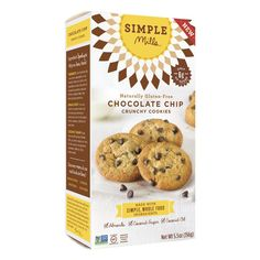 Chocolate Chip Crunchy Cookies - These cookies are made with almond flour. NO Dairy, Grains, or Eggs. Theyre great for allergy sufferers! Not quite the same as regular cookies, but a good chocolate taste.