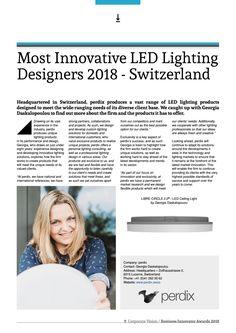 Most Innovative LED Lighting Designers 2018 - Switzerland