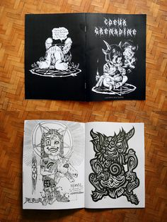 Coeur Grenadine fanzine zine satanic romantic illustration tattooists tattoo-artists Tarte tatin MANGEZ DES TÅRTES