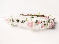 Hey, I found this really awesome Etsy listing at https://www.etsy.com/listing/201425537/pink-flower-crown-rustic-wedding-hair