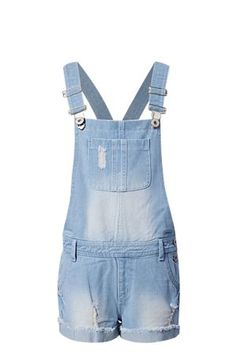 Bleached denim dungaree. Turned up hems.<BR><BR>Fabric Content:<BR>100% Cotton<BR><BR>Wash Care:<BR>Machine washable