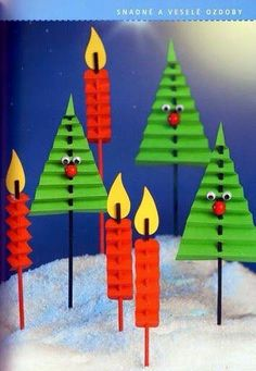 Idee di Natale per lavoretti per Bambini. Christmas ideas for children's chores. Christmas decorations made with paper that require a pinch of craftsmansh Christmas Paper Crafts, Noel Christmas, Christmas Activities, Christmas Projects, Winter Christmas, Holiday Crafts, Christmas Gifts, Christmas Decorations, Christmas Ornaments