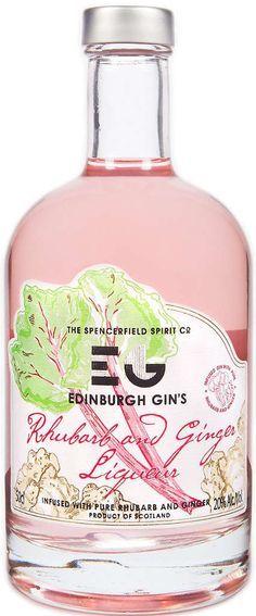 Edinburgh Rhubarb Gin 0,5l - Mit scharfem Ingwer und süß saurem Rhabarbergeschmack