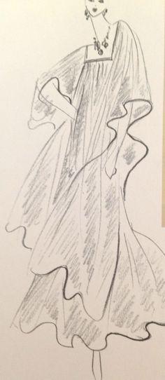 Yves Saint Laurent Sketch