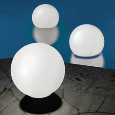 The Place Anywhere Solar Orb Light - Hammacher Schlemmer- floating solar lights for the pool