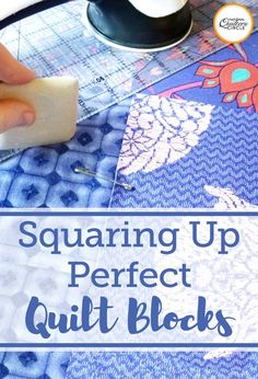 Sewing Block Qults Squaring Up Quilt Blocks with Precision - Squaring up quilt blocks plays an important role in how your quilt turns out. Watch and learn how to do it with accuracy every time. Quilting 101, Quilting Board, Quilting Rulers, Quilt Binding, Quilting For Beginners, Sewing Projects For Beginners, Quilting Tutorials, Quilting Projects, Quilting Designs