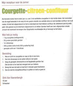 Courgette-citroen-confituur. Dirk van Vaerenbergh.