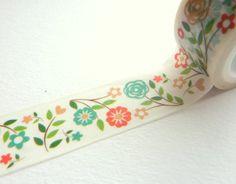 Vintage Flowers Washi Tape 20mm x 5m